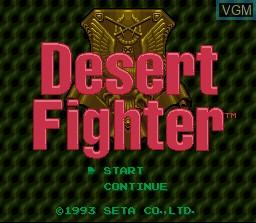 Image de l'ecran titre du jeu Desert Fighter sur Nintendo Super NES