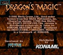 Image de l'ecran titre du jeu Dragon's Magic sur Nintendo Super NES