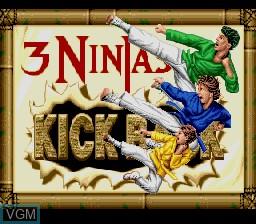 Image de l'ecran titre du jeu 3 Ninjas Kick Back sur Nintendo Super NES