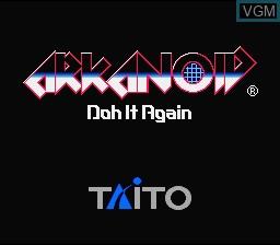Image de l'ecran titre du jeu Arkanoid - Doh It Again sur Nintendo Super NES