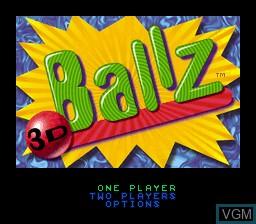 Image de l'ecran titre du jeu Ballz 3D sur Nintendo Super NES