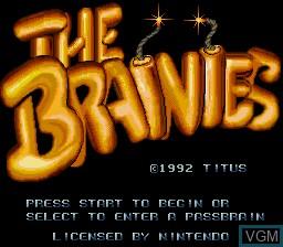 Image de l'ecran titre du jeu Brainies, The sur Nintendo Super NES