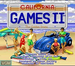 Image de l'ecran titre du jeu California Games II sur Nintendo Super NES