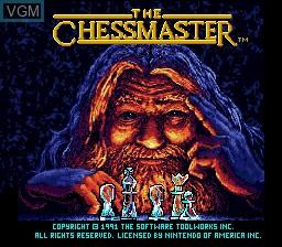 Image de l'ecran titre du jeu Chessmaster, The sur Nintendo Super NES