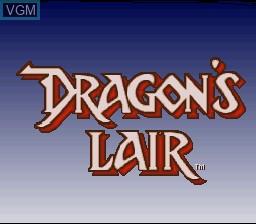 Image de l'ecran titre du jeu Dragon's Lair sur Nintendo Super NES