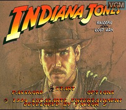 Image de l'ecran titre du jeu Indiana Jones' Greatest Adventures sur Nintendo Super NES