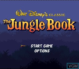 Image de l'ecran titre du jeu Jungle Book, The sur Nintendo Super NES