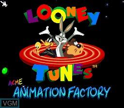 Image de l'ecran titre du jeu ACME Animation Factory sur Nintendo Super NES