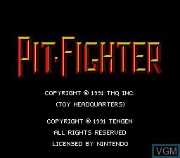 Image de l'ecran titre du jeu Pit Fighter sur Nintendo Super NES
