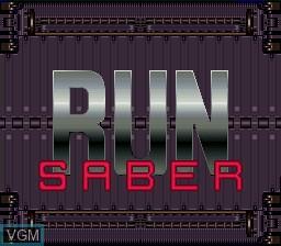 Image de l'ecran titre du jeu Run Saber sur Nintendo Super NES
