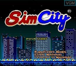 Image de l'ecran titre du jeu Sim City sur Nintendo Super NES