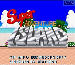 Image de l'ecran titre du jeu Super Adventure Island sur Nintendo Super NES