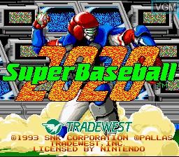 Image de l'ecran titre du jeu 2020 Super Baseball sur Nintendo Super NES