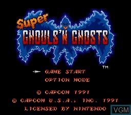 Image de l'ecran titre du jeu Super Ghouls 'N Ghosts sur Nintendo Super NES