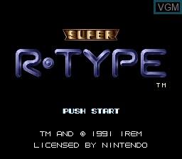 Image de l'ecran titre du jeu Super R-Type sur Nintendo Super NES