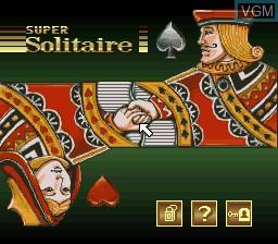 Image de l'ecran titre du jeu Super Solitaire sur Nintendo Super NES