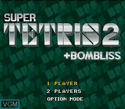 Image de l'ecran titre du jeu Super Tetris 2 + Bombliss sur Nintendo Super NES
