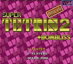 Image de l'ecran titre du jeu Super Tetris 2 + Bombliss - Gentei Han sur Nintendo Super NES