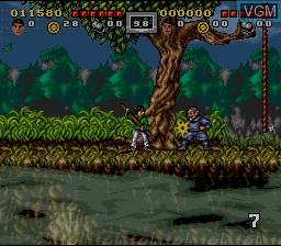 Image du menu du jeu 3 Ninjas Kick Back sur Nintendo Super NES