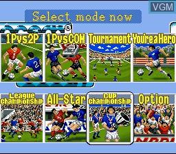 Image du menu du jeu 90 Minutes - European Prime Goal sur Nintendo Super NES