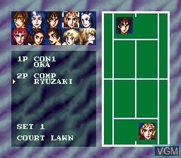 Image du menu du jeu Ace wo Nerae! sur Nintendo Super NES