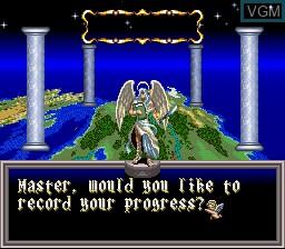 Image du menu du jeu ActRaiser 2 sur Nintendo Super NES