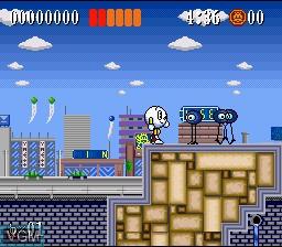 Image du menu du jeu Action Pachio sur Nintendo Super NES
