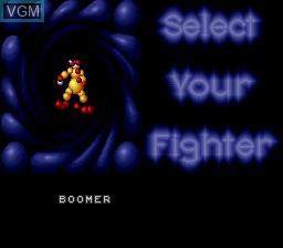 Image du menu du jeu Ballz 3D sur Nintendo Super NES