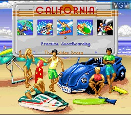 Image du menu du jeu California Games II sur Nintendo Super NES