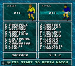 Image du menu du jeu Dino Dini's Soccer sur Nintendo Super NES