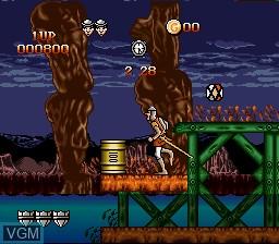 Image du menu du jeu Dragon's Lair sur Nintendo Super NES