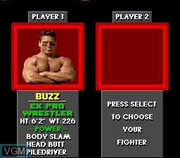 Image du menu du jeu Pit Fighter sur Nintendo Super NES