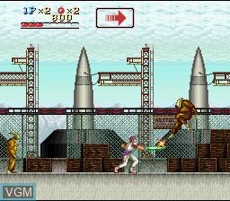 Image du menu du jeu Run Saber sur Nintendo Super NES