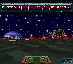 Image du menu du jeu Space Football - One on One sur Nintendo Super NES