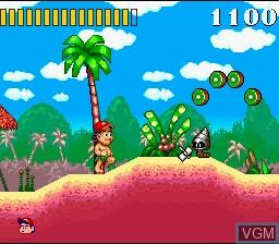 Image du menu du jeu Super Adventure Island sur Nintendo Super NES