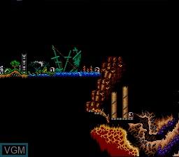 Image du menu du jeu Super Ghouls 'N Ghosts sur Nintendo Super NES