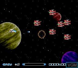 Image du menu du jeu Super R-Type sur Nintendo Super NES