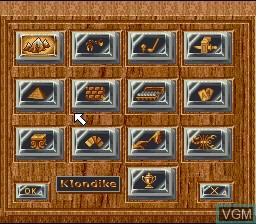 Image du menu du jeu Super Solitaire sur Nintendo Super NES