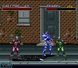 Image in-game du jeu Cosmo Police Galivan II - Arrow of Justice sur Nintendo Super NES