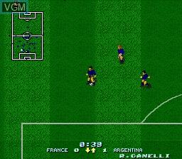 Image in-game du jeu Dino Dini's Soccer sur Nintendo Super NES