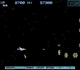 Image in-game du jeu Gradius III sur Nintendo Super NES