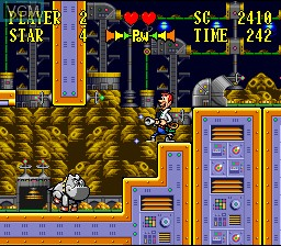 Image in-game du jeu Jetsons, The - Invasion of the Planet Pirates sur Nintendo Super NES