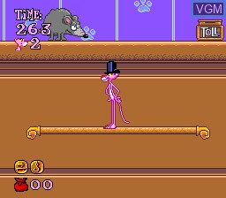 Image in-game du jeu Pink Panther in Pink Goes to Hollywood sur Nintendo Super NES