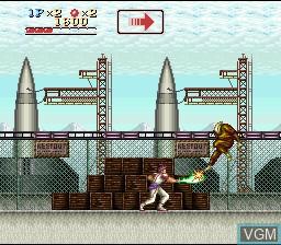 Image in-game du jeu Run Saber sur Nintendo Super NES