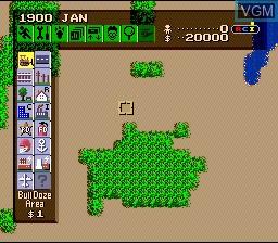 Image in-game du jeu Sim City sur Nintendo Super NES