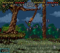 Image in-game du jeu 3 Ninjas Kick Back sur Nintendo Super NES