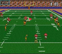 Image in-game du jeu ABC Monday Night Football sur Nintendo Super NES