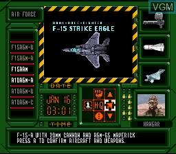 Image in-game du jeu A.S.P. Air Strike Patrol sur Nintendo Super NES