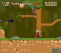 Image in-game du jeu Asterix sur Nintendo Super NES