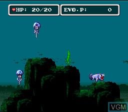 Image in-game du jeu E.V.O. Search for Eden sur Nintendo Super NES